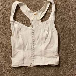 Free People Off White Crop Top, XS, never worn